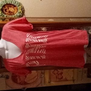 NWT PINK Victoria's Secret  Candy Striped Tshirt
